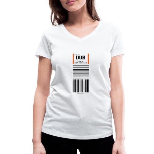 Flughafen Dublin DUB - Frauen T-Shirt (V-Ausschnitt) - Frauen Bio-T-Shirt mit V-Ausschnitt von Stanley & Stella