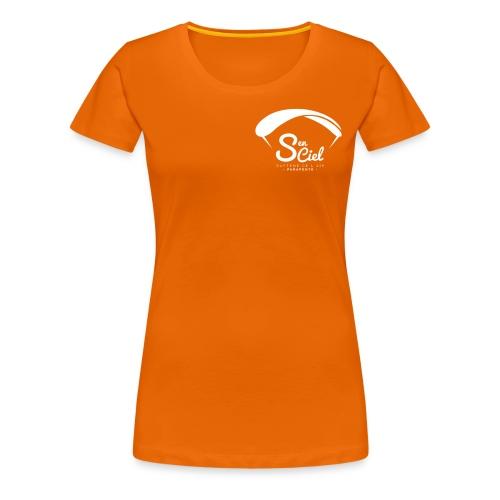 S'en Ciel Femme orange blanc - T-shirt Premium Femme