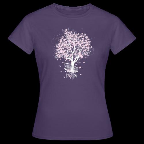 Baum im Einkaufswagen - Frauen T-Shirt