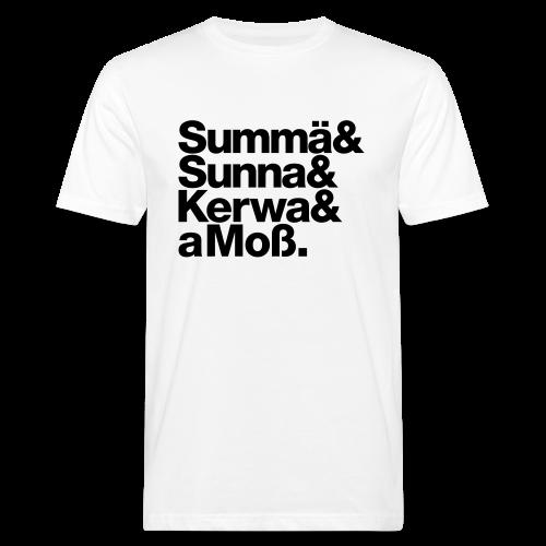 Summä, Sunna, Kerwa und aMoß - Herren BIO T-Shirt - 100% Baumwolle - #bamberg - Männer Bio-T-Shirt
