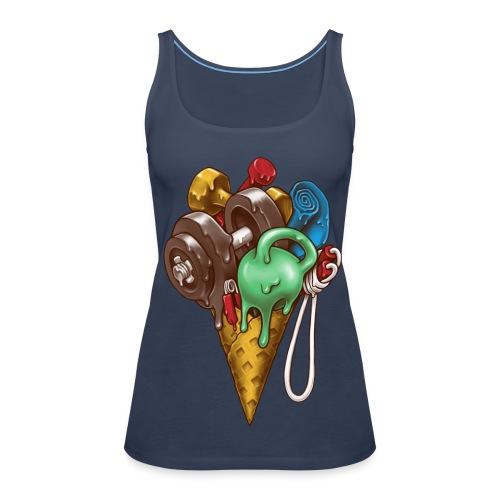 Ice Cream Workout Tops - Women's Premium Tank Top