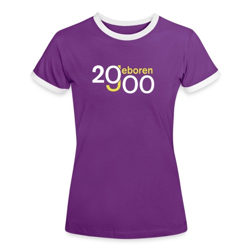 Jahrgang 2000 geboren - Frauen Kontrast-T-Shirt
