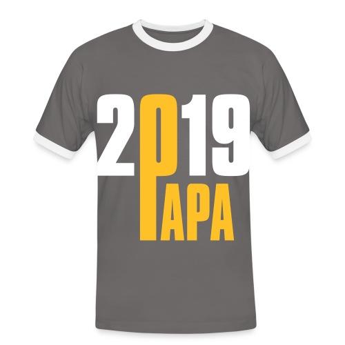 Papa 2019 - Männer Kontrast-T-Shirt