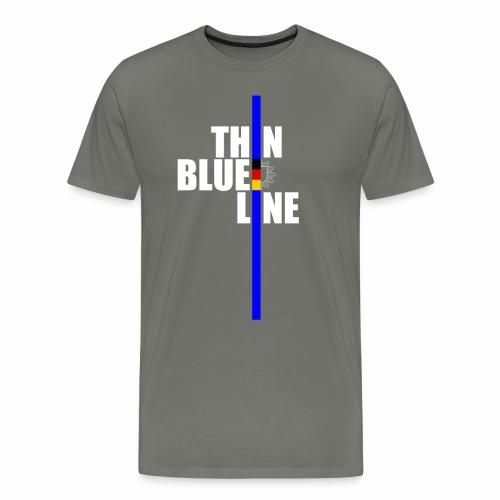 thin blue line Männershirt - Männer Premium T-Shirt