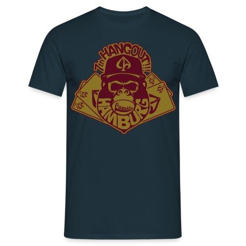 Navy/Maroon/Gold - Männer T-Shirt