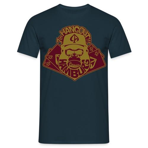 Navy/Gold/Maroon - Männer T-Shirt