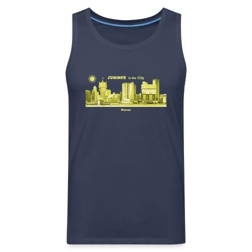 Macau Macao Skyline China Summer - Männer Premium Tank Top