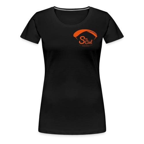 S'en Ciel Femme noire orange - T-shirt Premium Femme