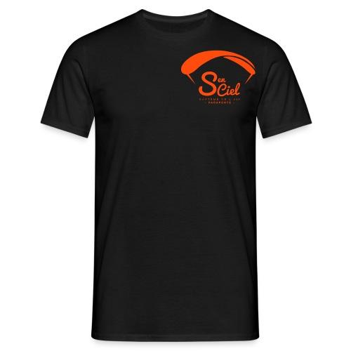S'en Ciel Homme noire orange - T-shirt Homme