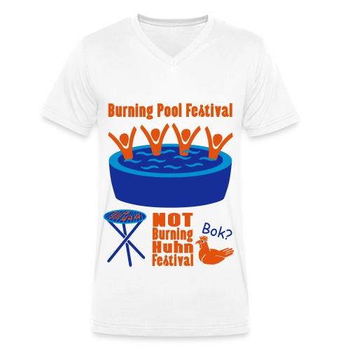 Burning Pool Festival - Männer Bio-T-Shirt mit V-Ausschnitt von Stanley & Stella