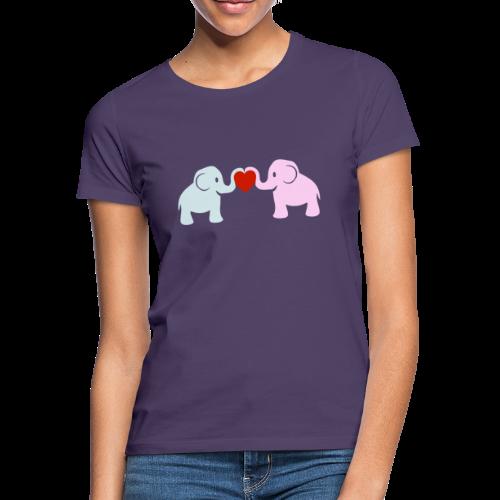 Elefanten-Liebe T-Shirt - Frauen T-Shirt