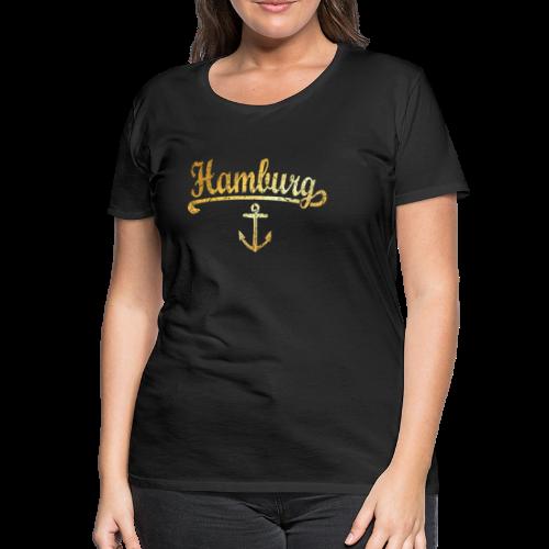 Premium Hamburg Anker T-Shirt - Frauen Premium T-Shirt
