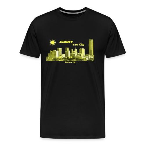 Oklohoma City Skyline Summer USA - Männer Premium T-Shirt