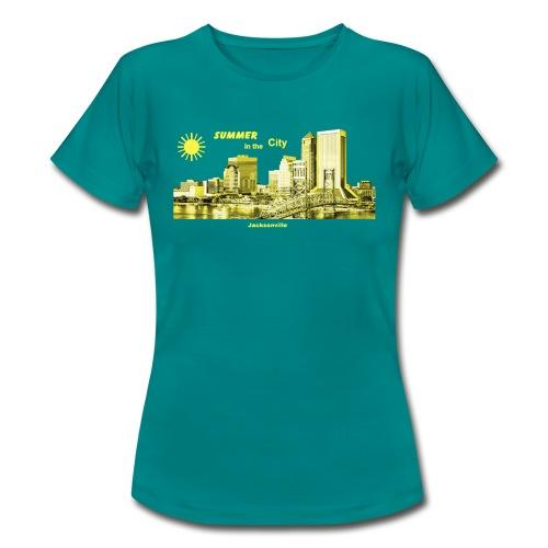 Jacksonville Summer Florida Skyline - Frauen T-Shirt