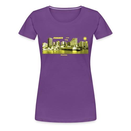Honolulu Skyline Hawaii Summer City - Frauen Premium T-Shirt