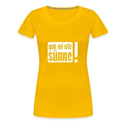 goh mi ute sünne - Frauen Premium T-Shirt