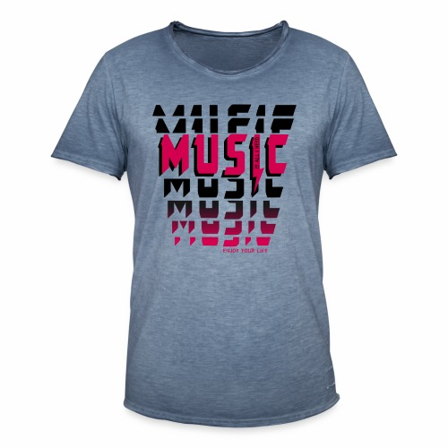 Music is all i need - Männer Vintage T-Shirt