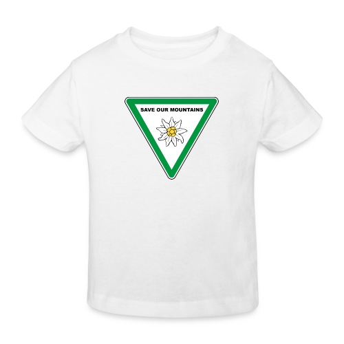 SAVE OUR MOUNTAINS - Edelweiß I grün - Kinder Bio-T-Shirt