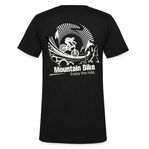 Herren snowex_bike - Männer Bio-T-Shirt mit V-Ausschnitt von Stanley & Stella