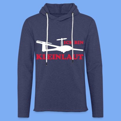 ich bin kleinlaut selbststart eigenstart Segelflugzeug sailplane glider soaring gliding Segeflieger - Light Unisex Sweatshirt Hoodie