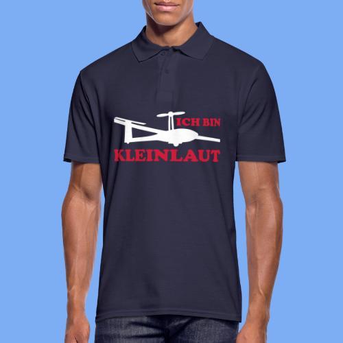 ich bin kleinlaut selbststart eigenstart Segelflugzeug sailplane glider soaring gliding Segeflieger - Men's Polo Shirt