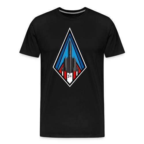SR-71 Blackbird - Mach 3 + - Men's Premium T-Shirt