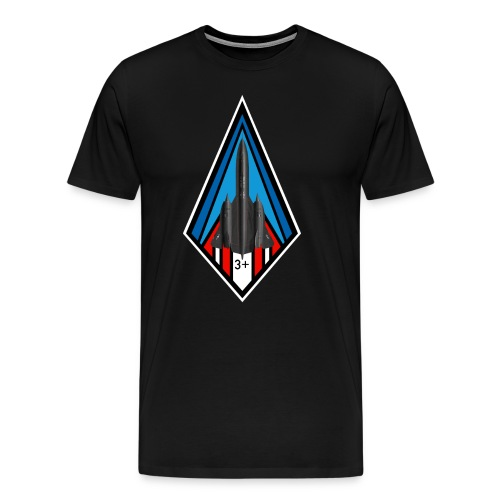 SR-71 Blackbird - Mach 3 + - Men's Premium T-Shirt