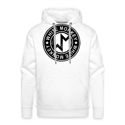 WM Logo stamp, White Hoodie - Premiumluvtröja herr