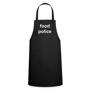 No Logos range - black Food Police apron - Cooking Apron