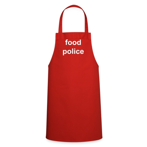 No Logos range - red Food Police apron - Cooking Apron