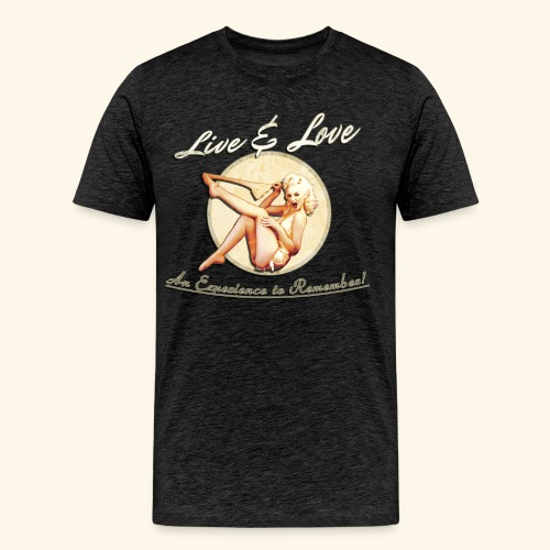 Live & Love An Experience to Remember! Men's Tee - Men's Premium T-Shirt