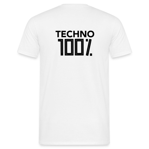 100% Techno Shirt - Männer T-Shirt