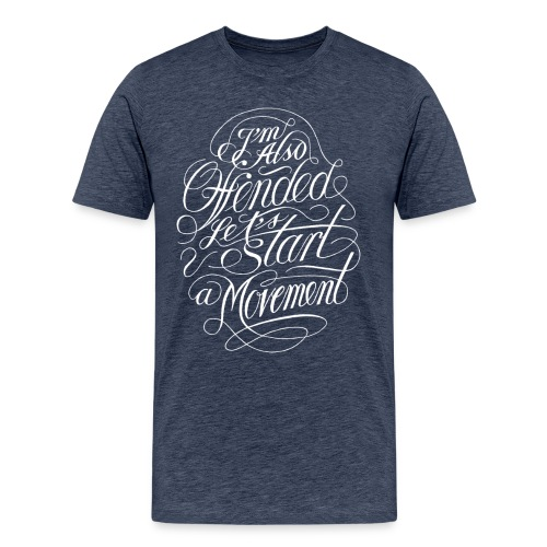 Offended (white print) - Herre premium T-shirt