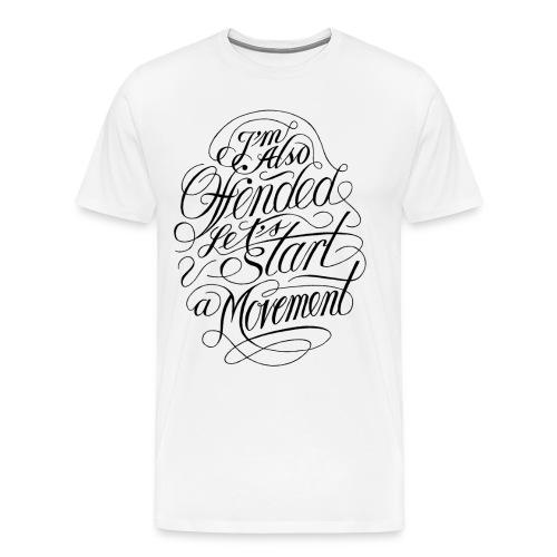 Offended (black print) - Herre premium T-shirt