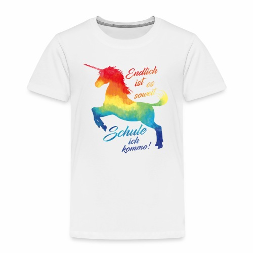 Einhorn - Schulanfang - Kinder Premium T-Shirt
