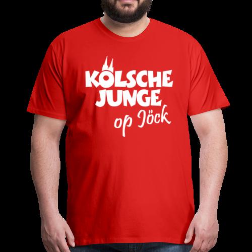 Kölsche Junge Op Jöck (Weiß) Jungs aus Köln Unterwegs - Männer Premium T-Shirt