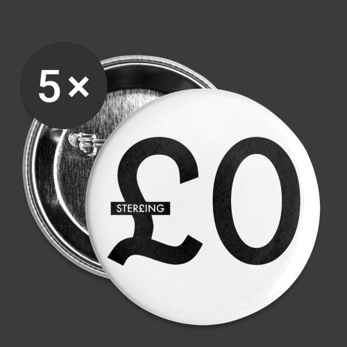 £0 Buttons - Buttons small 25 mm
