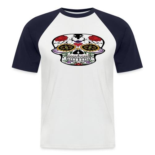 Bitcoin Skull Edition -  Men's Baseball T-Shirt - Men's Baseball T-Shirt