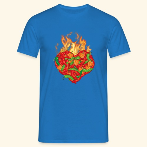 Geschenkidee für Chili Fans: Chili Heart T-Shirt - Männer T-Shirt