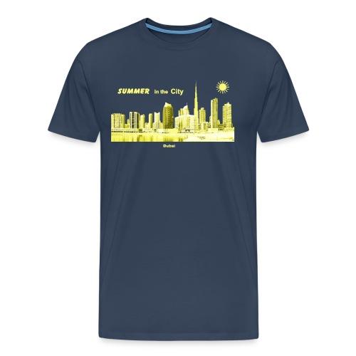 Dubai City Skyline Summer Emirate - Männer Premium T-Shirt