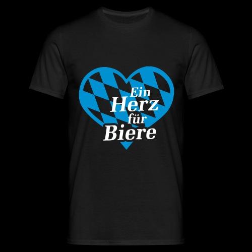 Ein Herz für Biere - Männer T-Shirt