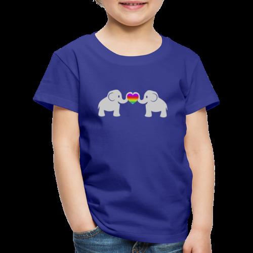 Süße Baby Elefanten Regenbogen Herz Kinder T-Shi - Kinder Premium T-Shirt