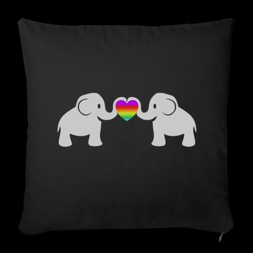 Süße Baby Elefanten Regenbogen Herz Kissenhülle - Sofakissenbezug 44 x 44 cm