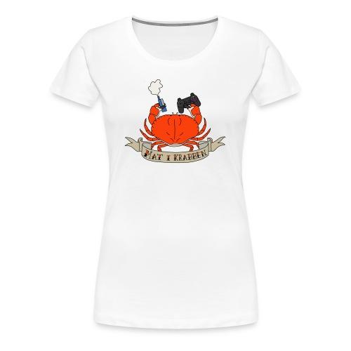 Mat i Krabben (Kvinner) - Premium T-skjorte for kvinner