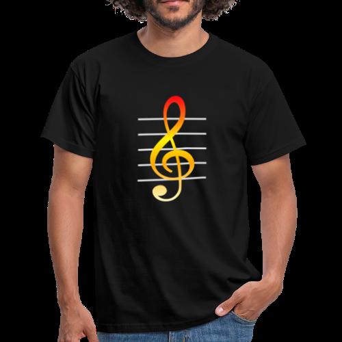 Musik Notenschlüssel Bunt