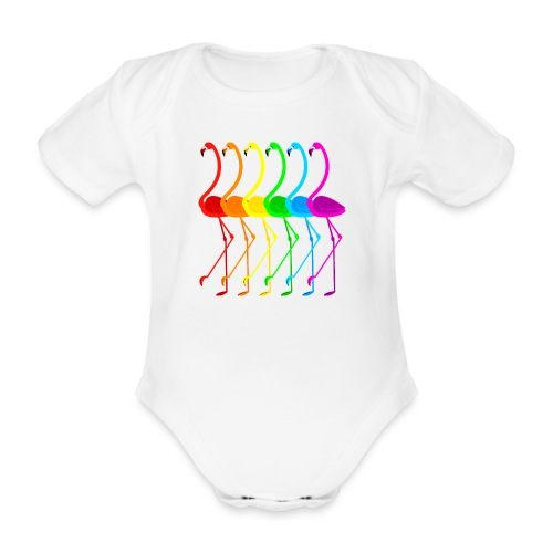 Pride flamingos - Ekologisk kortärmad babybody