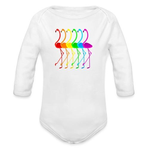 Pride flamingos - Ekologisk långärmad babybody