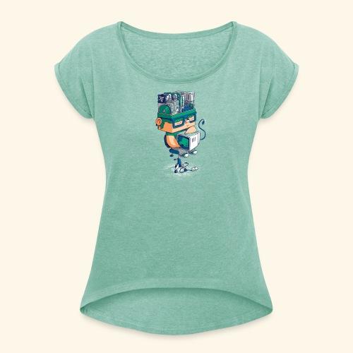 I AM AN AI - T-shirt à manches retroussées Femme
