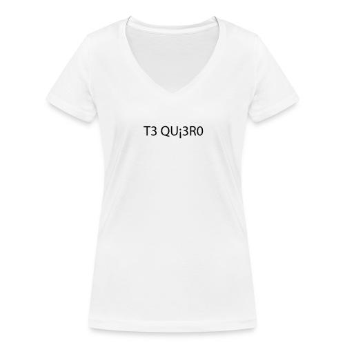 TE QUI3R0 - T-shirt bio col V Stanley & Stella Femme
