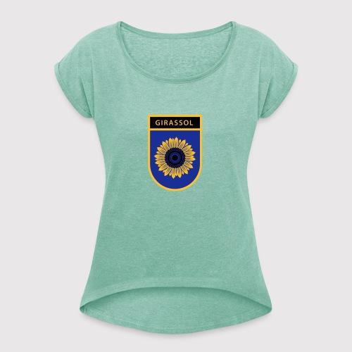 Girassol - Frauen T-Shirt mit gerollten Ärmeln